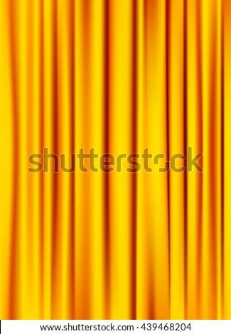 golden yellow silky curtain texture background. vector - stock vector