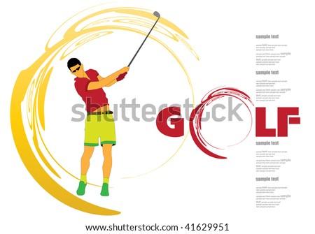 Golf - stock vector