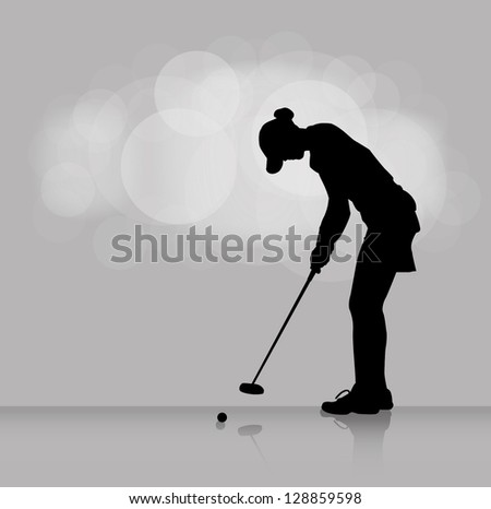 Golf background - vector illustration - stock vector