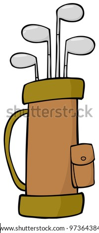 Golf Bag. Jpeg version also available in gallery. - stock vector