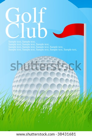 Golf Ball 1 Drawing - stock vector