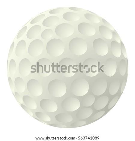 golf ball icon cartoon illustration golf stock vector royalty free