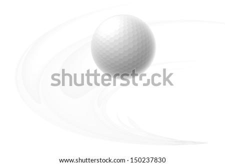 golf ball flying air vector illustration stock vector 150237830 rh shutterstock com Silhouette Vector Golf Balls Golf Vector Graphics