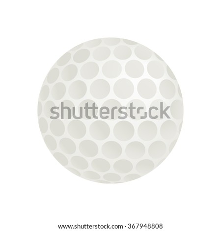 Golf ball isometric 3d icon on a white background - stock vector