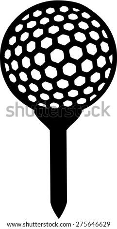 golf ball on tee stock vector 275646629 shutterstock rh shutterstock com golf ball on tee graphic golf ball graphic free