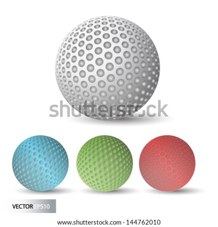 Golf ball. Vector. - stock vector