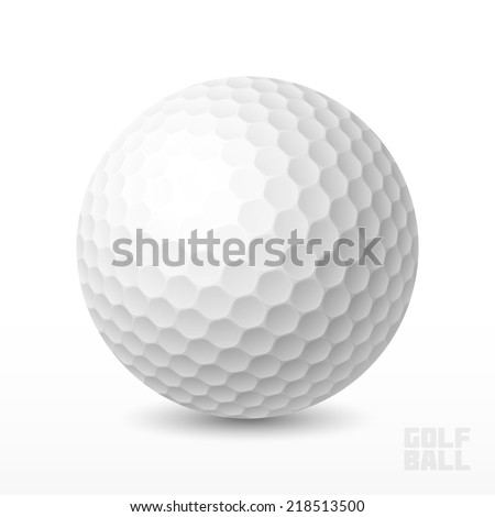 Golf ball. Vector illustration. - stock vector