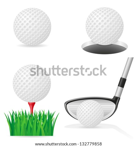 golf ball vector illustration isolated on white background