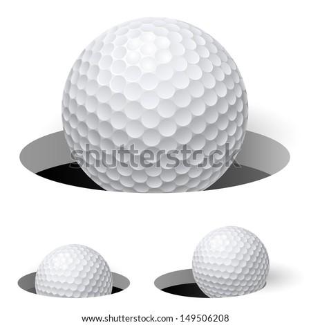 Golf balls. Illustration on white background for design - stock vector