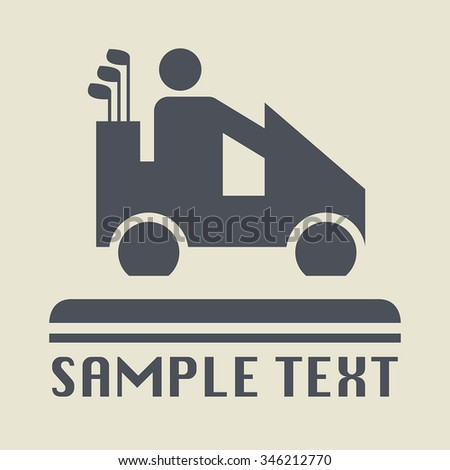 Golf car icon or sign, vector illustration