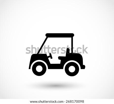 Golf car icon vector - stock vector