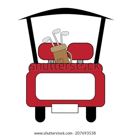 Golf Cart - stock vector