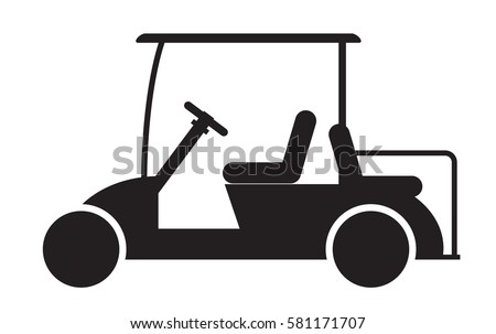 golf cart or golf car icon vector illustration
