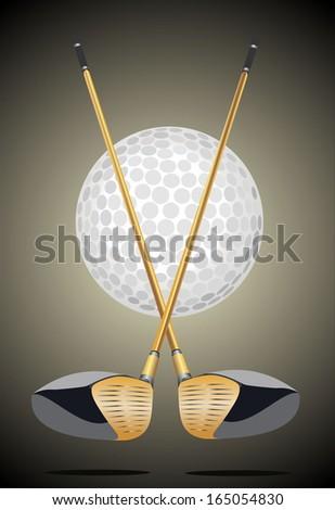 golf club icon - stock vector
