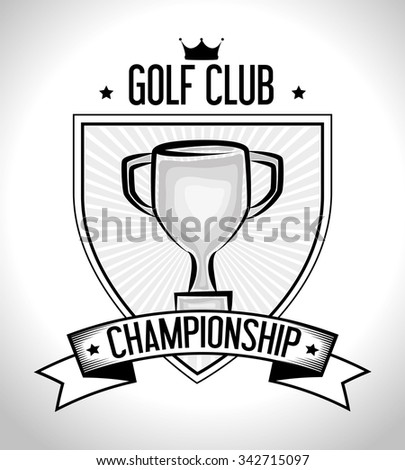 Golf club sport game graphic design, vector illustration eps10