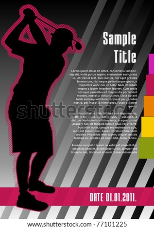 Golf concept poster template. Vector illustration. - stock vector