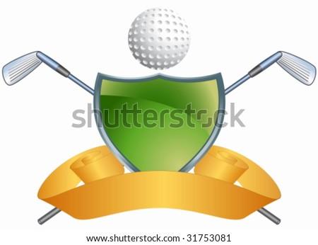 Golf Crest - stock vector