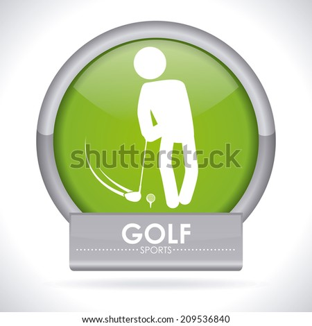 golf  design over gray background vector illustration - stock vector