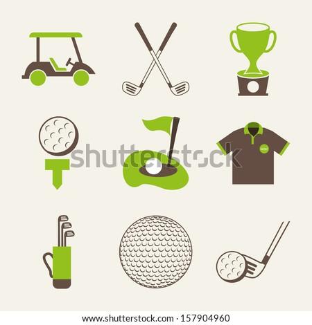 golf design over white  background vector illustration - stock vector