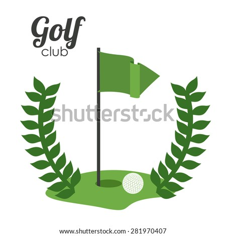 Golf design over white background, vector illustration