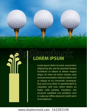 Golf design template - stock vector
