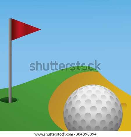 Golf digital design, vector illustration 10 eps graphic