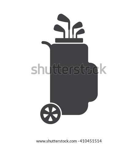 Golf icon Vector Illustration on the white background. - stock vector