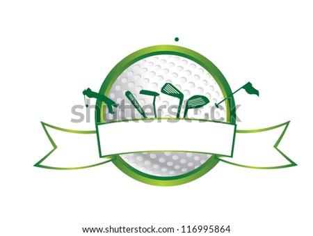 Golf icon. vector symbol - stock vector