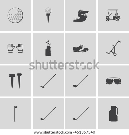 golf icons design over white background vector illustration - stock vector