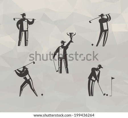 Golf icons. Vector format - stock vector