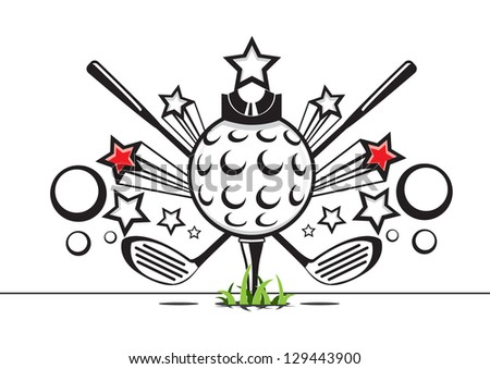 golf illustration - stock vector