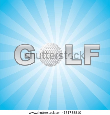 golf illustration with ball background. vector illustration - stock vector