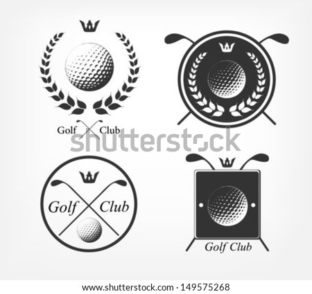 Golf labels - stock vector