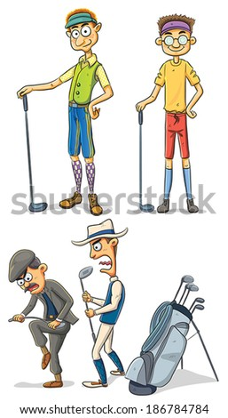 Golf Men - stock vector