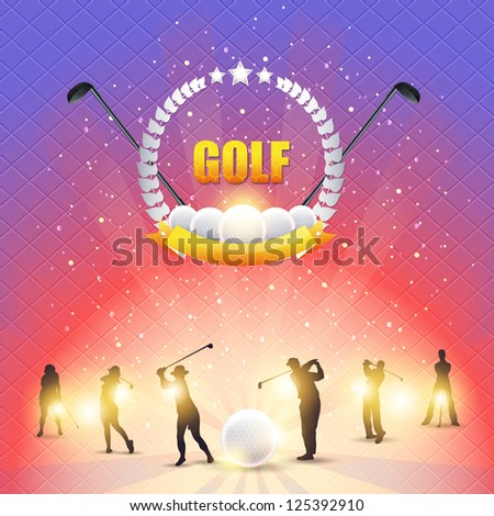 Golf Shiny Background - stock vector