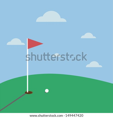 golf sport vector - stock vector