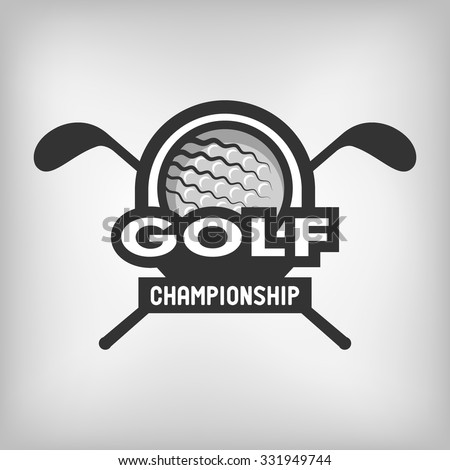Golf sports logo, label, emblem. - stock vector