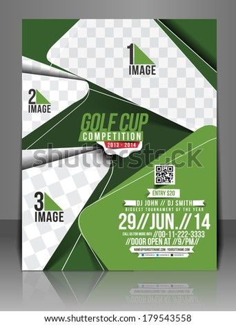 Golf Tournament Center Front Flyer Template