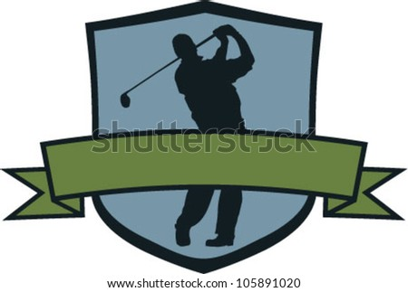 Golf Tournament Crest - stock vector