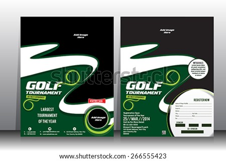 Golf tournament flyer brochure template stock vector royalty free golf tournament flyer brochure template reheart Choice Image