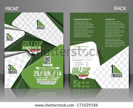 Golf Tournament Front U0026 Back Flyer Template