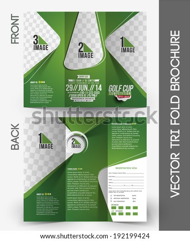 Golf Tournament Front Back Flyer Template Stock Vector 171029186