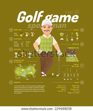 Golf vector illustration - stock vector