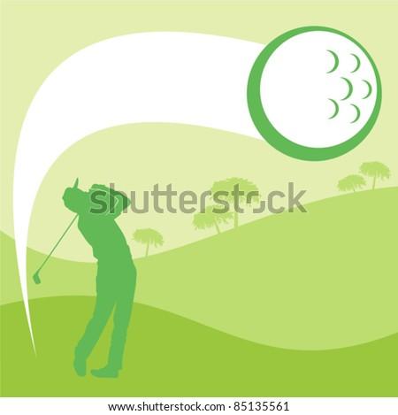 Golfer graphic illustration. Vector. Golf - stock vector
