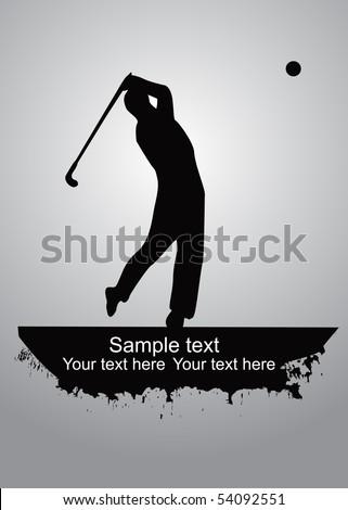 golfer vector - stock vector