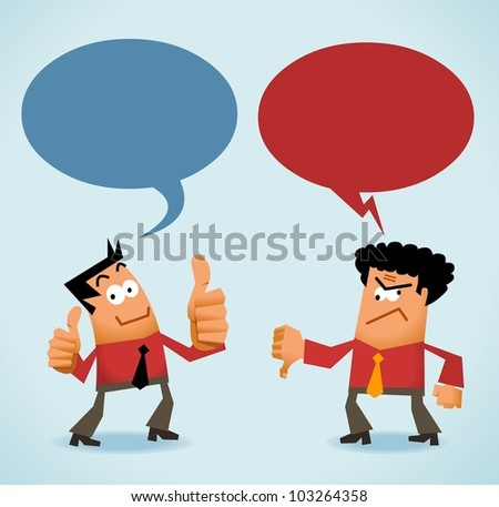 Good and Bad Review. Vector - stock vector
