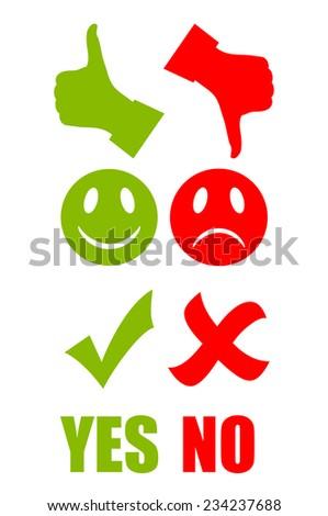 Good bad symbol - stock vector