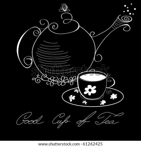 Good cup of tea - stock vector