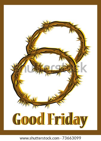 good friday background with crown made of throns - stock vector