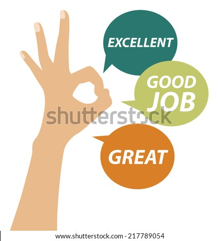 good job - stock vector